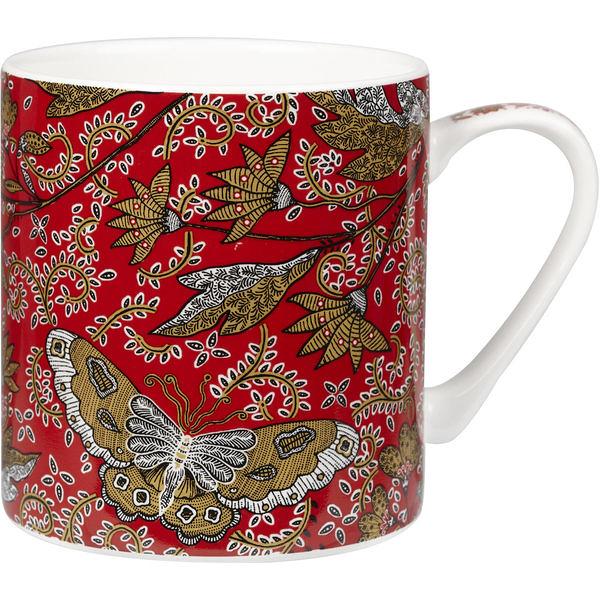 英國製造精瓷340ml馬克杯-Vermilion朱紅系列-Cirebon
