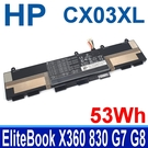 惠普 HP CX03XL 3芯 . 電池 HSTNN-IB9G HSTNN-LB8R EliteBook X360 830 G7 G8