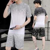 男運動套裝休閒短袖短褲兩件套青少年學生韓版潮流帥氣衣服 FR8220『俏美人大尺碼』