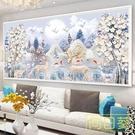 2020新款鑽石畫十字繡發財麋鹿2020鑽石繡滿鑽客廳臥室貼鑽磚石秀 店慶降價