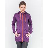 FIVE UP 長版連帽針織外套-紫