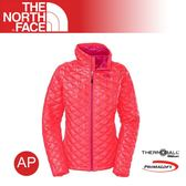 【The North Face 女 TB保暖兜帽外套《紅毛丹粉》】C774/羽絨外套/保暖外套/防風外套