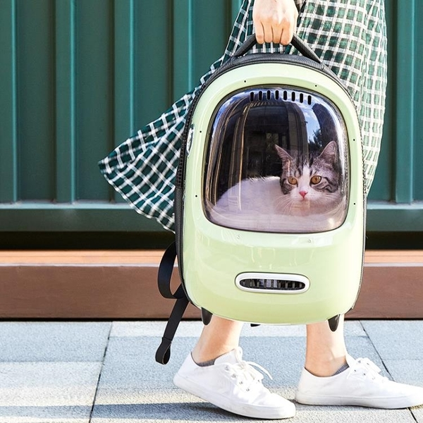 小佩貓包外出便攜太空艙寵物背包貓咪包外出攜帶大容量雙肩貓背包 設計師生活