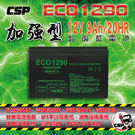 ECO 1290 加強型鉛酸蓄電池12V...