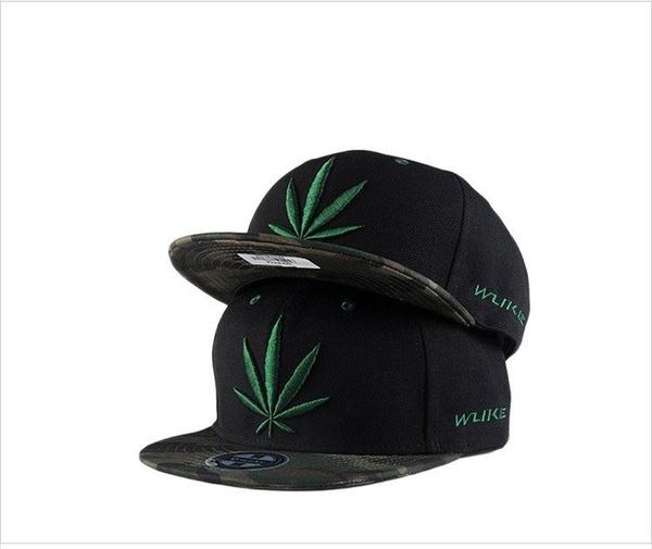 FIND 韓國品牌棒球帽 男 街頭潮流 綠葉子刺繡迷彩 歐美風 嘻哈帽  街舞帽