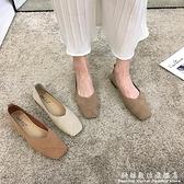 低跟單鞋女年夏季新款鞋百搭鞋子平底春款粗跟淺口女鞋夏 聖誕節免運