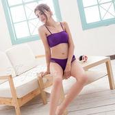 無縫透氣無鋼圈內衣內褲組S-XL(紫)《Life Beauty》