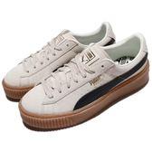 Puma 休閒鞋 Suede Platform Core 米白 黑 膠底 麂皮 厚底鞋 運動鞋 女鞋【PUMP306】 36355901