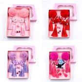 髮夾 寶寶冬款兒童兔毛球發飾套裝禮盒女童中國風流蘇頭飾發夾過年喜慶
