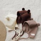 嬰兒帽子可愛超萌新生的兒胎帽秋冬ins韓版男女寶寶護耳帽球球帽  童趣屋