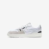 Nike Squash-type (gs) [CJ4119-100] 大童鞋 運動 休閒 舒適 輕巧 魔鬼氈 簡約 白黑