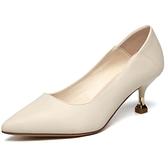 高跟鞋軟皮小跟單鞋女工作鞋溫柔面試鞋女鞋5cm【慢客生活】