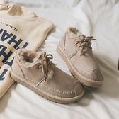 短靴子女2019新款冬季網紅加絨雪地棉鞋百搭韓版學生短筒雪地靴潮