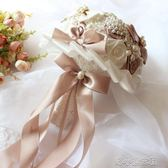 婚禮韓式結婚新娘手捧花創意飄帶伴娘手拿花成品仿真捧 『洛小仙女鞋』