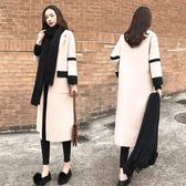 大衣外套 秋冬加厚時尚毛呢外套女中長款韓版新款寬鬆呢子大衣 萬客居