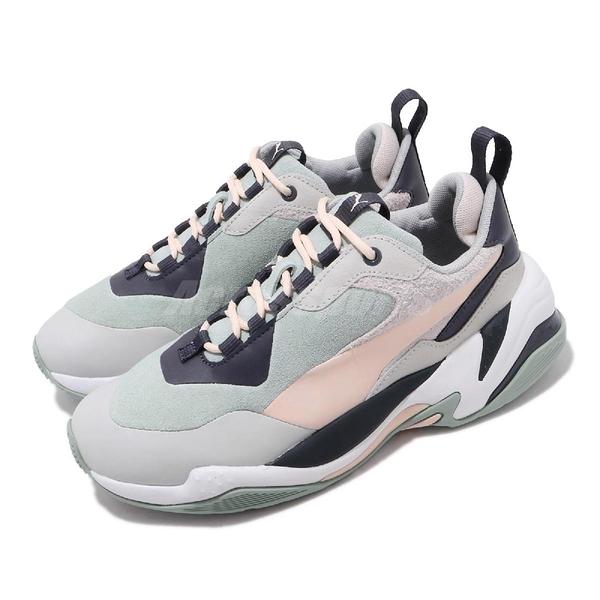 【海外限定】Puma 休閒鞋 Thunder Colour Block Wns 灰 綠 女鞋 復古慢跑鞋 運動鞋 【ACS】 37096001