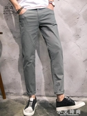 男士休閒直筒褲寬鬆修身純色 小艾時尚