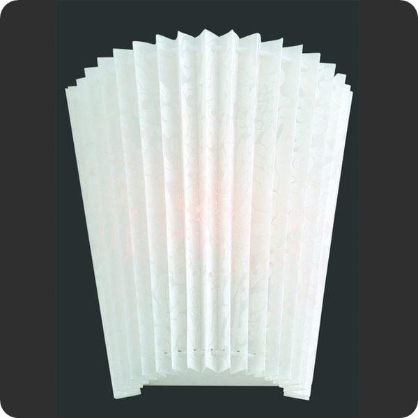 羅馬百葉貝殼PC板壁燈─高25深25寬21cm─E27x2【雅典娜家飾】A3C038