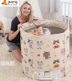 泳池 吉龍嬰兒游泳桶家用保溫新生幼兒童大號折疊洗澡盆小孩寶寶游泳池 草莓妞妞