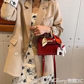 凱莉包 網紅港風潮紅色包包女2021新款韓版時尚鱷魚紋百搭側背斜背凱莉包 榮耀新包