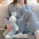 簡約休閒睡衣女春夏學生韓版秋季家居服兩件套裝