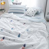 韓式可水洗毛巾繡夏涼被(含枕套)-波蘿