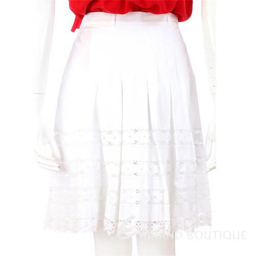 Blumarine 白色抓褶洞洞設計及膝裙 0620927-20