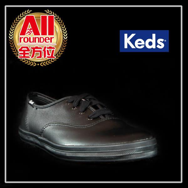 【Keds】女款休閒鞋(Taylor Swoft 泰勒絲代言) 黑色皮革(9143w110011) 全方位跑步概念館
