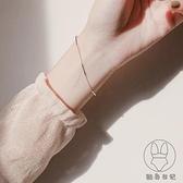 銀冷淡風手鏈小眾設計女韓版簡約森系閨蜜手飾潮【貼身日記】