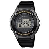 CASIO 機械設計感電子錶-鐵灰框(W-216H-1B)