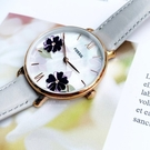 FOSSIL美國品牌Jacqueline花卉時尚真皮腕錶ES4672公司貨/禮物