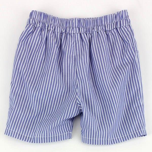 【愛的世界】純棉直條紋五分褲/6歲/12歲-台灣製- ★春夏下著