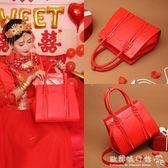 紅色新娘包結婚包包韓版百搭潮斜背包手提婚宴包 『歐韓流行館』