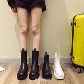 馬丁靴女年瘦新款煙筒切爾西短靴單靴厚底英倫風春秋靴子 快速出貨