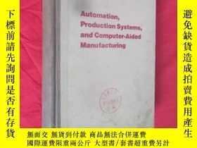 二手書博民逛書店Automatic罕見production system and computer aided manufactu