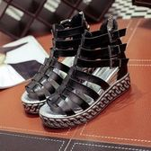 現貨 超酷羅馬涼鞋厚底坡跟休閒鞋女鞋...2色...流行線