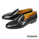 【MAGNANNI】經典樂福紳士皮鞋 黑...