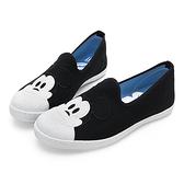 Disney 可愛米奇大頭 帆布懶人鞋-黑(DW5126)