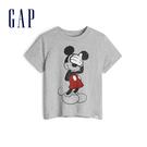 Gap男幼童Gap x Disney 迪士尼系列米奇棉質圓領短袖T恤548757-淺麻灰