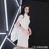 洋裝小禮服女新款宴會顯瘦短款聚會名媛派對白色晚禮服裙igo  潮流前線