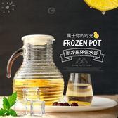 全館85折 原裝進口無鉛玻璃水壺冷水壺檸檬果汁大容量涼水壺 百搭潮品