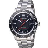 瑞士WENGER Roadster速度系列黑夜騎士腕錶   01.0851.122