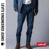 Levis 男款 上寬下窄 / 502 Taper 牛仔褲 / LEJ 3D褲 / 深藍刷白
