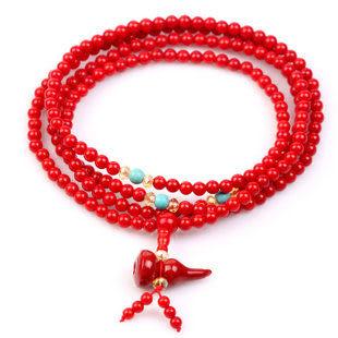 葫蘆紅珊瑚手鏈辟邪驅凶吉祥