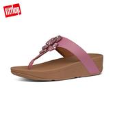 SS20新品  【FitFlop】LOTTIE CORSAGE TOE-THONGS 水鑽花朵裝飾夾腳涼鞋-女(櫻花粉)