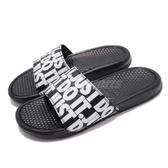 Nike 涼拖鞋 Benassi JDI Print 黑 白 滿版 Just Do It 男鞋 女鞋 【PUMP306】 631261-024