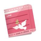 口罩收納夾 粉紅LOVE 3入