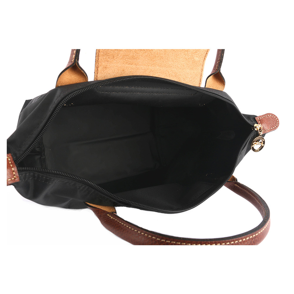 【LONGCHAMP】防水S號短把小手提水餃包(黑色) L1621 089 001