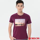 【BOBSON】男款仿兩件印圖上衣 (28029-63)