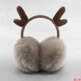 保暖耳罩耳套女冬季保暖耳捂防寒耳罩可伸縮可愛耳套圣誕鹿角耳罩-『美人季』